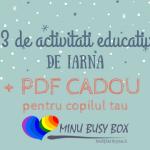 23 de ACTIVITATI EDUCATIVE DE IARNA pentru copilul tau – Minu Busy Box si un pdf CADOU